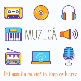 Pot asculta muzica in timp ce lucrez